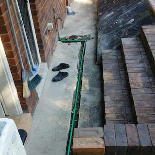 new drains and water diversion